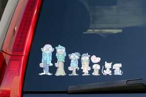 Adam Koford Creates Scary Car Family Stickers in 'My Zombie Family'
