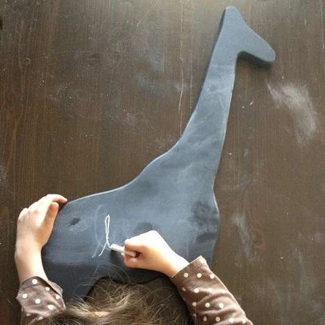 Safari Silhouette Chalkboards - This Giraffe Chalkboard Can be Carried Around by Future Artists