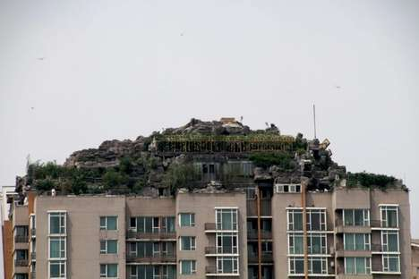 Mountain Top Buildings - Doctor Zhang Biqing Created an Elaborate Rooftop in Beijing, China