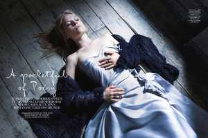 'A Pocketful of Poésy' for UK Marie Claire 2013 Embrace