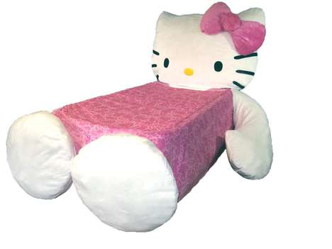 Alluring Feline Furniture - This Hello Kitty Bed Set is Adorable and Super Comfy