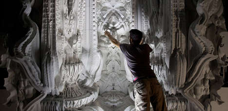 Intricate 3D Printed Rooms - 'Digital Grotesque' is an Impressively Massive Sculpture
