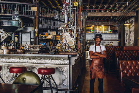 Steampunk Contraption Cafes - Have a Cup of Java at the Cape Town Coffee Shop Called