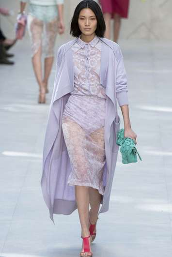 Delicate Lilac Apparel - Burberry Prorsum's Spring Collection Beams with Radiant Orchid Fashion
