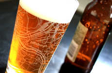 Etched Glass Map Pints - Never Get Lost Again Using These Fun Beer Glasses with Streetmaps
