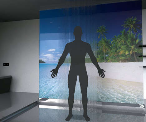 Virtual Reality Showers - The Portal Shower Transports You to an Island Paradise