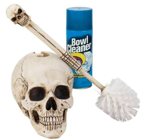 Skeletal Toilet Cleaners - This Skull Toilet Brush Makes Bathroom Cleansing More Fearsome