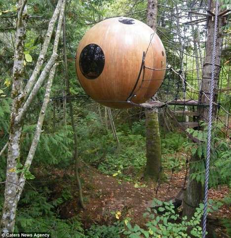 spherical tree house hotel