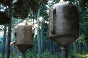 Antony Gibbon Designs' Embryo Treehouse is a Tree House Home for Adults