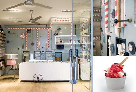 Whimsical Gelato Boutiques - The Rocambolesc Gelateria is a Charming Ice Cream Factory