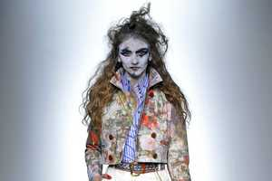 Vivianne Westwood Presents Mask-Like Makeup at London Fashion Week