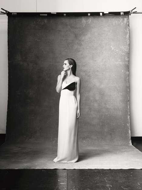 Elegant Ethically-Sourced Fashions - Emma Watson Promotes Ethical Fashion from NET-A-PORTER