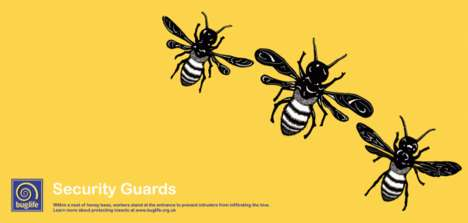 Minimalist Bug Billboards - Hilary Barnes Creates Insect Conservation Campaigns For