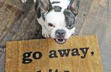 Rude Canine Doormats - Keep Neighbors at Bay with This Rudely Shaped Doormat