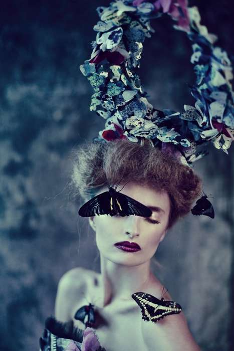 Fairy Tale Dreamworld Photography - Journey Through Metamorphosis with This Raw Butterfly Fashion
