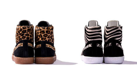 "Wild Safari-Ready Sneakers - The PUMA Suede Made in Japan Mid ""Osaka Zoo"" Pack Is Wild"