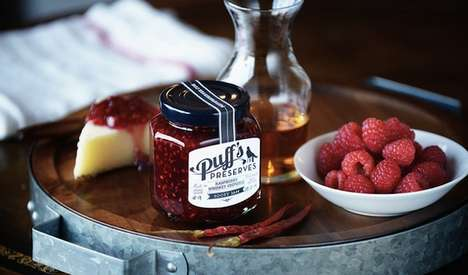 Appetizing Alcohol-Flavored Jams - Puff's Preserves Offers Artisanal Jams in Delicious Boozy Flavors