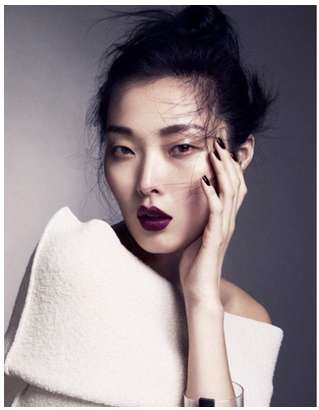 Lusty Dew Look Editorials - Sung Hee Kim Rocks a Wet Look for Vogue China