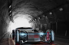 Futuristic Vintage Concept Cars - This Rolls Royce Concept Car Features Improved Maneuverability