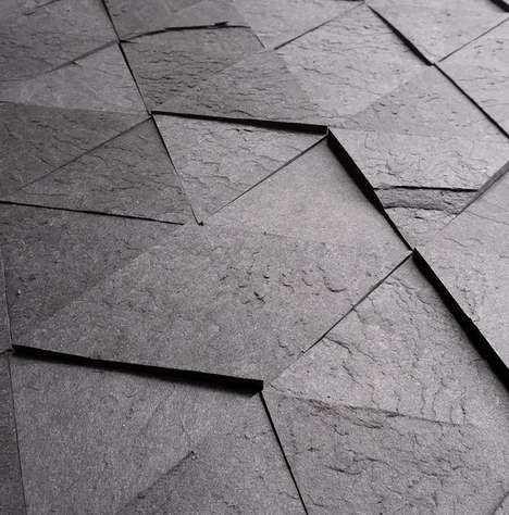 Recycled Paper Tiles - Tri by Slate-ish is a Collection of Laminates that are Eco and Stylish