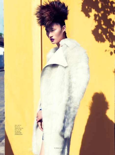 Elegantly Punk Editorials - The ELLE Vietnam