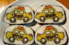 Edible Sushi Canvasses - Artist Takayo Kiyota's Sushi Roll Art is Beautiful and Edible