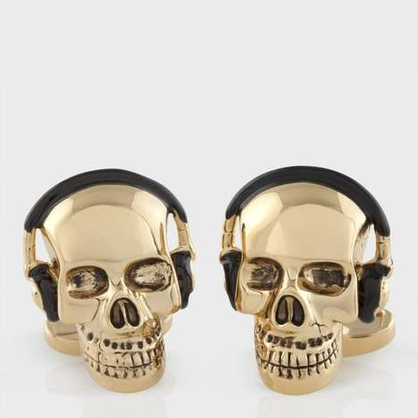 Boney Headphone Cufflinks - These Skull Cufflinks from Paul Smith Add Personal Flair