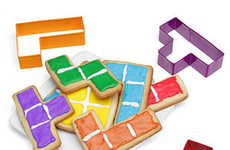 Geometric Cookie Cutters - These Tetris Cookie Cutters Give Circular Cookies Some Needed Flair
