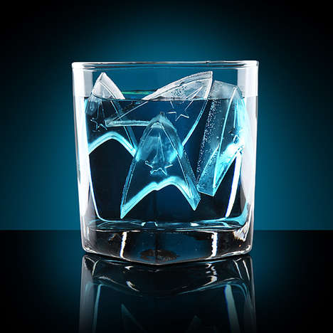 Geeky Beverage Coolers - These Star Fleet Star Trek Ice Cube Trays are For Serious Trekkies