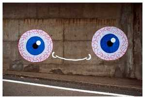 Ladamenrouge's Artwork Gives the Streets Its Own Pair of Eyes