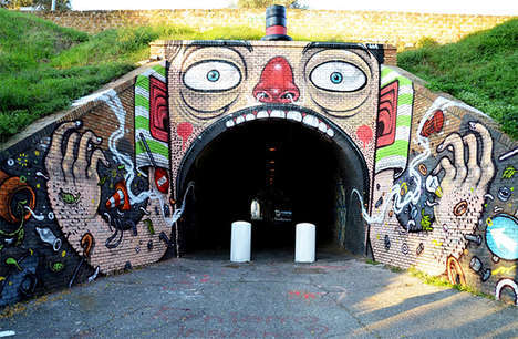 Responsive Urban Art - Mr. Thoms' Cool Street Art Plays with What Surrounds It