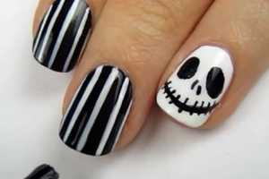 Get Jack Skellington-Inspired Nails with This Spooky Tutorial