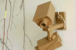 These Cardboard Video Cameras Make a Playful Reference to Big Brother