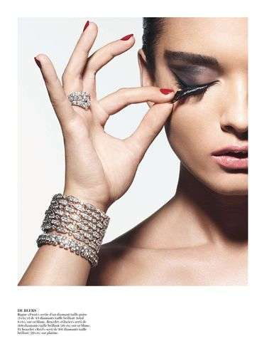 Blinged Out Beauty Shoots - Get Glammed Up with the Vogue Paris Crystal Renn Editorial