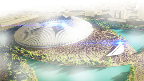Shape-Shifting Soccer Stadiums - Weston Williamson Designs an Eco Arena with a Responsive Roof