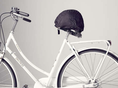 Seat-Shielding Helmet Sheaths - The Helmmate Keeps Your Bike