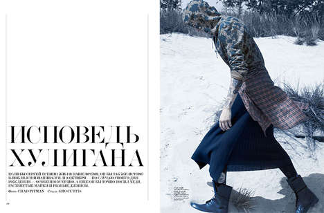 Wintry Punk Editorials - The Interview Russia 'Neo-Grunge' Photoshoot Stars Miles Langford