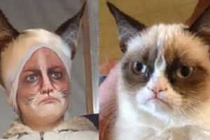 Win the Best Costume Award with This Grumpy Cat Makeup Tutorial