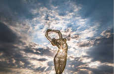 Graceful Giant Female Sculptures