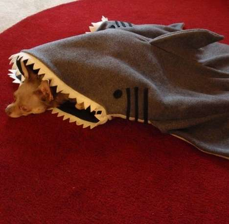 Predatory Pet Sleeping Bags - This Shark Blanket is the Perfect Dog Bed