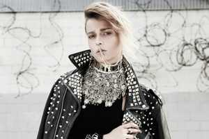 Martha Streck Gets a Glitzy Punk Makeover in this Fashion Photo Shoot