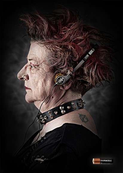 Aged Music Lover Ads - The Duracell 2013 Ad Campaign Fights the Effect of Time in a Different Way