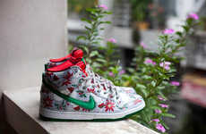 Ugly Christmas-Inspired Sneakers - These 'Ugly Christmas Sweater' Themed Nike SB Dunks are Quirky