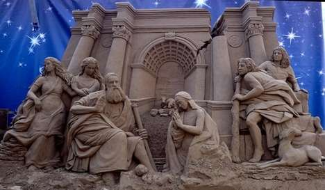 Hyper-Detailed Sand Carvings - Susanne Ruseler's Sand Sculptures are Mythological and Magical