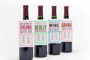 The 'Drink This Wine' Gift Tags are Funny and Quirky
