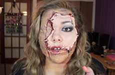 Stapled Skin Makeup Tutorials - This Halloween Makeup Tutorial Mimics is Like a Female Pavi
