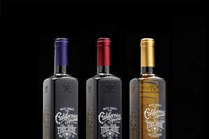 The California Square Wine Bottle is Elegant and Vintage Rectangular