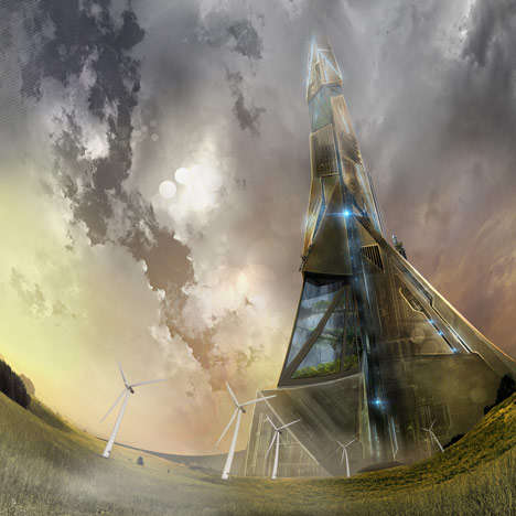Rocket-Launching Skyscrapers - Neal Stephenson's Conceptual Sci-Fi Building Proposes Rocket Launches