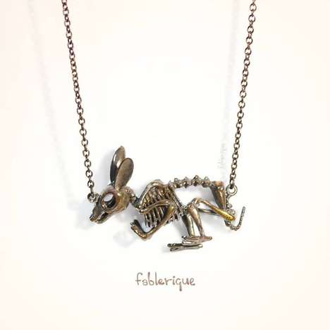 Bunny Skeleton Necklace