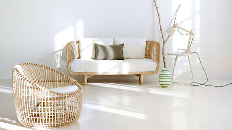 Refreshingly Modern Rattan Furniture - The Nest Collection by Cane-line is Intricate and Lightweight